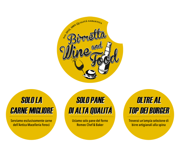Hamburgeria Roma Birretta Wine and Food