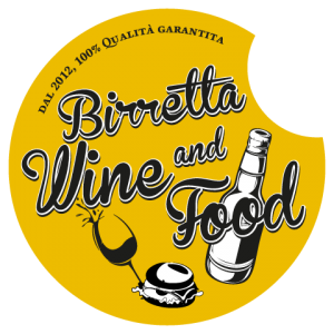 logo hamburgeria roma birretta wine and food