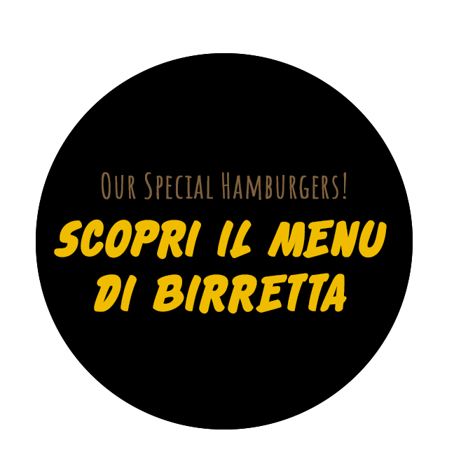 menu hamburgeria roma birretta and wine food